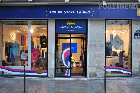 Pop up store Twingo #lavéritésurlesfilles 15 rue des Halles 75001 Paris
