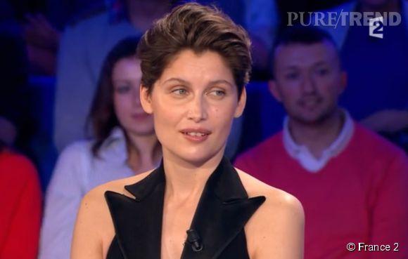 """Laetitia Casta a pris la défense de Julie Gayet sur le plateau de """"On n'est pas couché""""' sur France 2, ce samedi 28 févier 2015."""