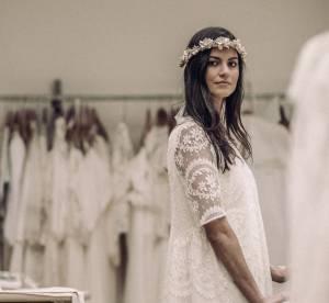 Mariage civil : Laure de Sagazan présente ses robes de mariée chic et bohèmes