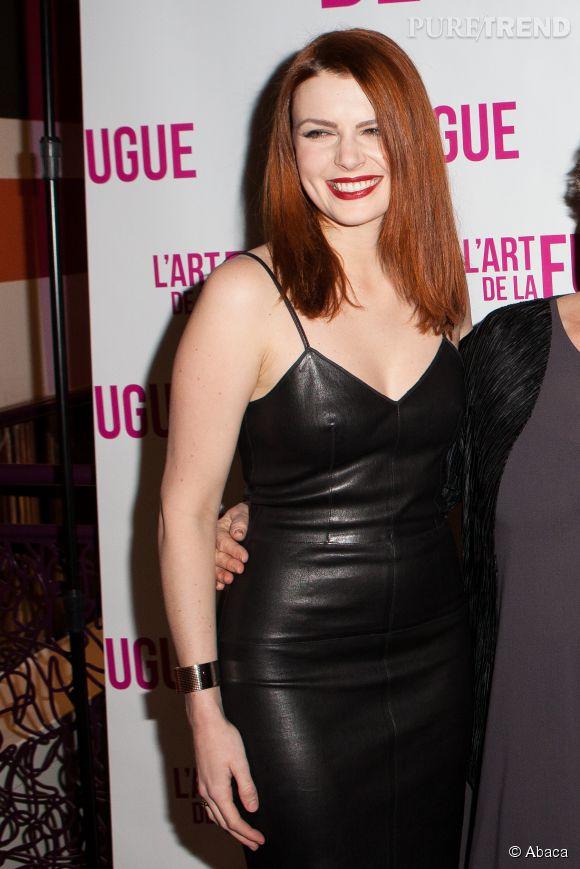 """Elodie Frégé, ultra sexy pour la première pour """"L'art de la fugue"""" au cinéma Gaumont Opéra, à Paris, le 3 mars 2015."""
