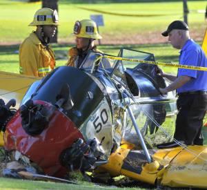 L'avion d'Harrison Ford en piteux état après le crash.