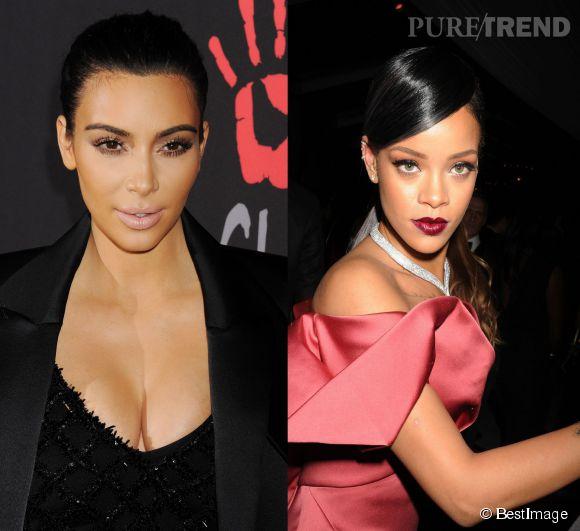 Inquiète de voir son mari partir en tournée avec la chanteuse, Kim Kardashian aurait averti sérieusement Rihanna de ne pas toucher à Kanye West!