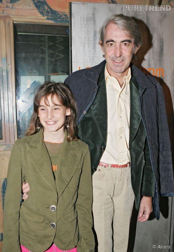 Violette d'Urso et son père Luigi d'Urso en 2004.