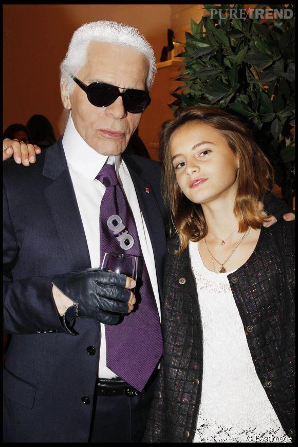 Violette d'Urso, le jeune fille qui vient d'envoûter le Kaiser de la mode : Karl Lagerfeld.