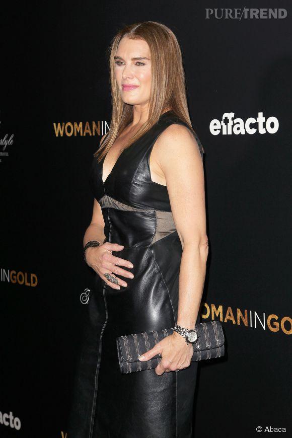 Brooke Shields a opté pour un total look noir hier soir sur le red carpet.