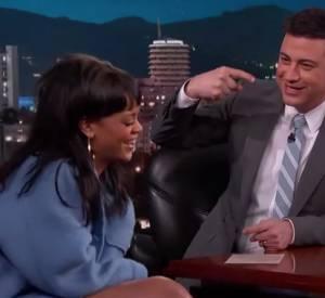 Rihanna sur le plateau de Jimmy Kimmel.