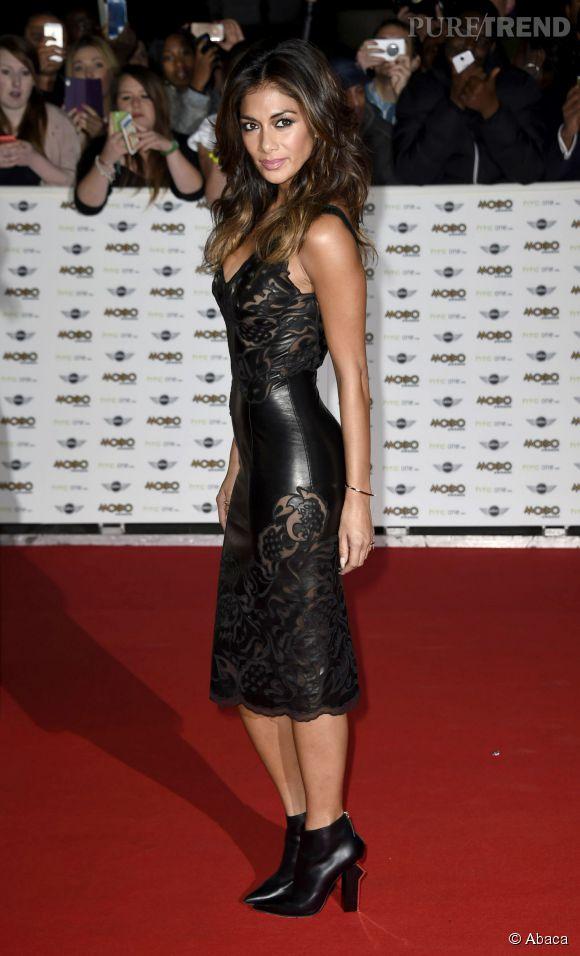 Nicole Scherzinger, une adepte des robes en similicuir.