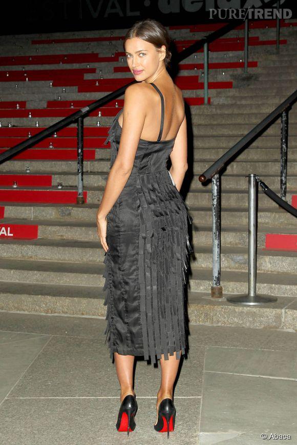 Irina Shayk à la soirée Vanity Fair pour le lancement du festival du film de Tribeca à New York le 14 avril 2015.