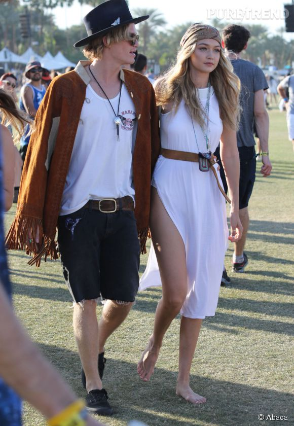 Cody Simpson et Gigi Hadid à Coachella.