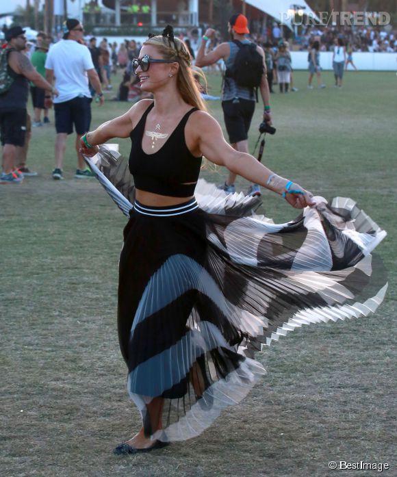 Paris Hilton à Coachella.