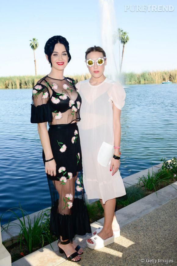 Katy Perry et Mia Moretti à Coachella.