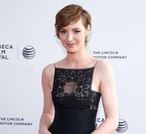 Louise Bourgoin : petite robe noire et transparence subtile à Tribeca