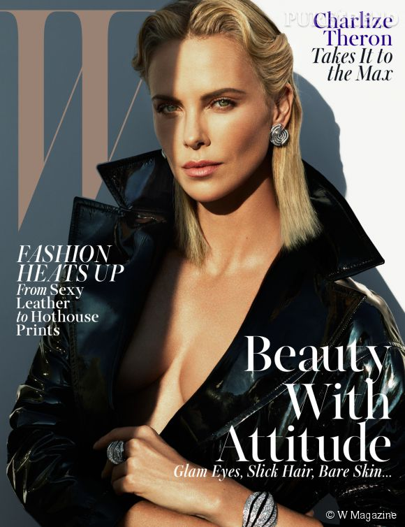 Charlize Theron torride en couverture de W Magazine cette semaine.