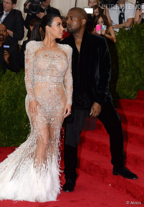 Kanye West et Kim Kardashian au MET Gala.