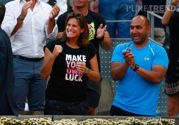 Amélie Mauresmo, future maman radieuse est fière de l'Ecossais Andy Murray, victorieux à Madrid face à Rafael Nadal !