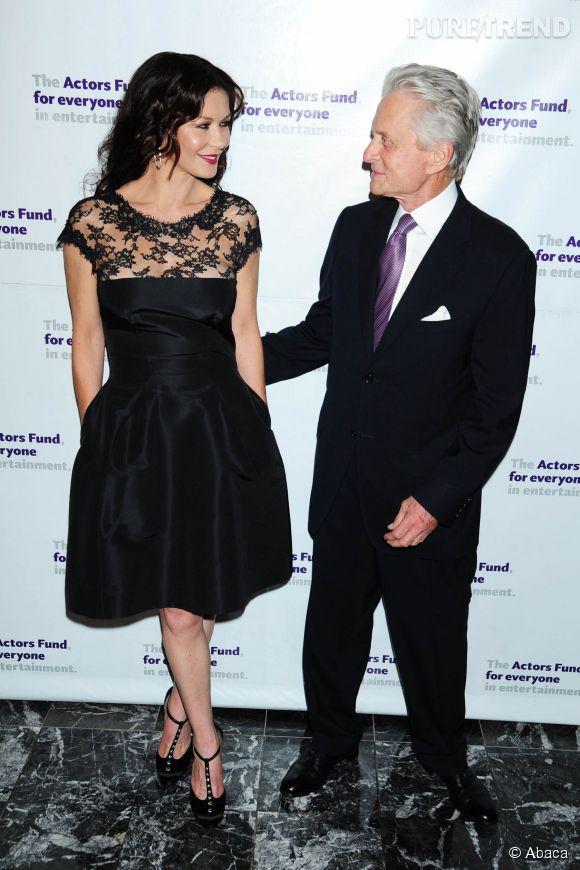 Catherine Zeta-Jones et Michael Douglas au gala de la fondation des acteurs à New York le 11 mai 2015.