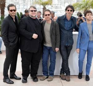 Les jurés masculins lors du premier photocall du Festival de Cannes le 13 mai 2015.