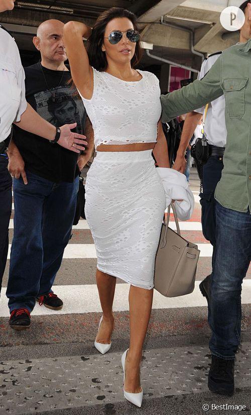 Eva Longoria en total look blanc