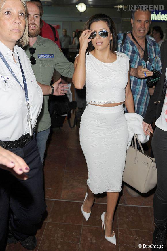 Eva Longoria arrive à nice ce jeudi 14 mai pour le Festival de Cannes