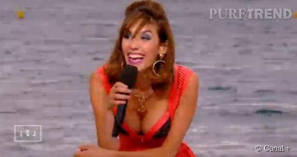Doria Tillier, toujours aussi sexy et déjantée en cagole cannoise à l'occasion du Festival de Cannes 2015.