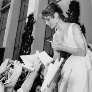 Brigitte Bardot pendant le Festival de Cannes en 1953.