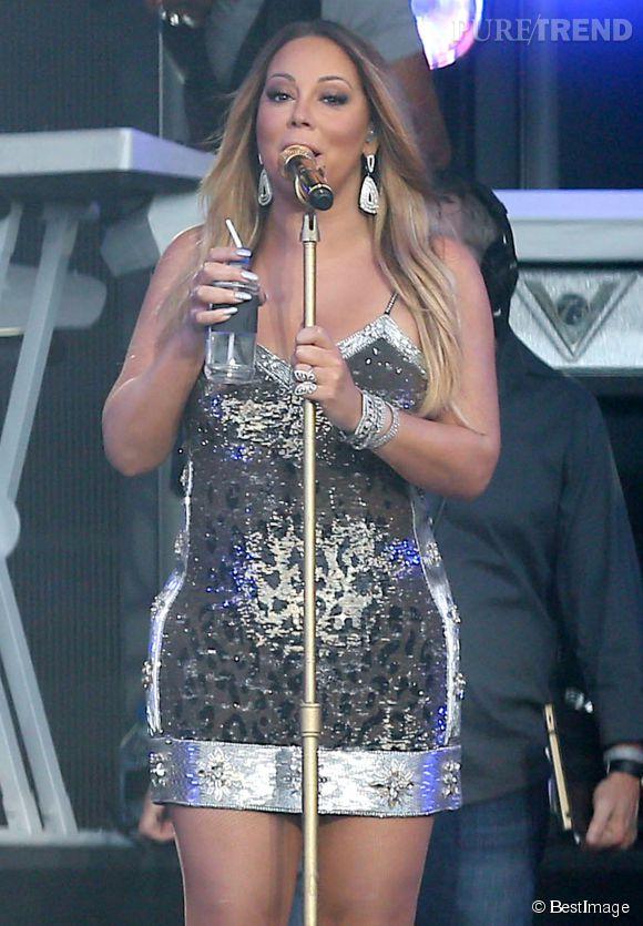 """Mariah Carey fait son show dans l'émission """"Jimmy Kimmel live !"""" à Hollywood le 18 mai 2015."""