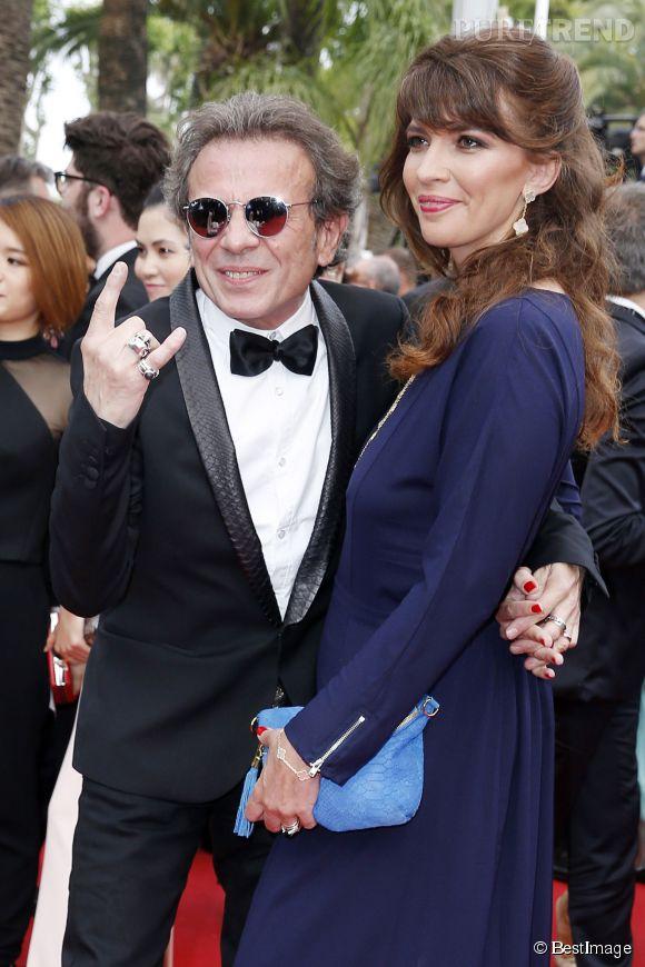 Le journaliste musical Philippe Manoeuvre et son épouse Candice étaient eux aussi à Cannes 2015. Rock'n'roll !