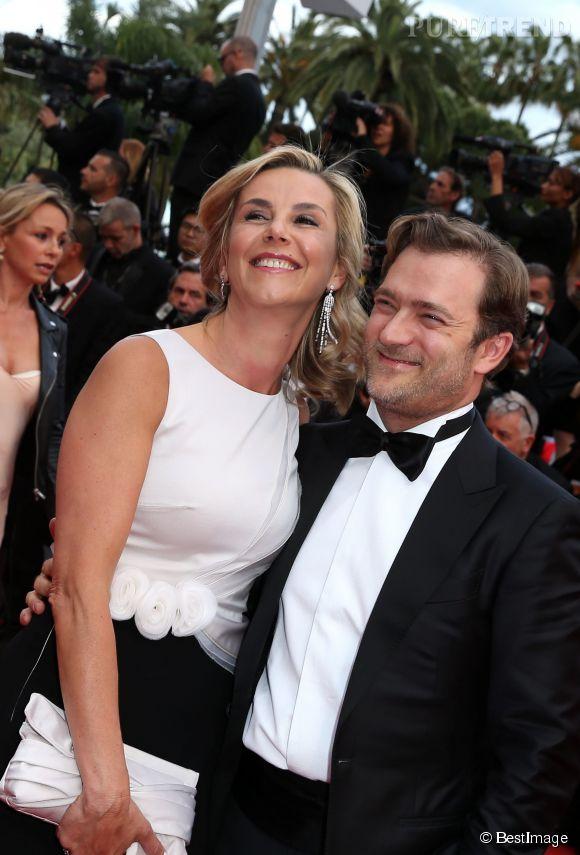 La journaliste Laurence Ferrari était ravie d'être si joliment assortie à son mari, Renaud Capuçon.