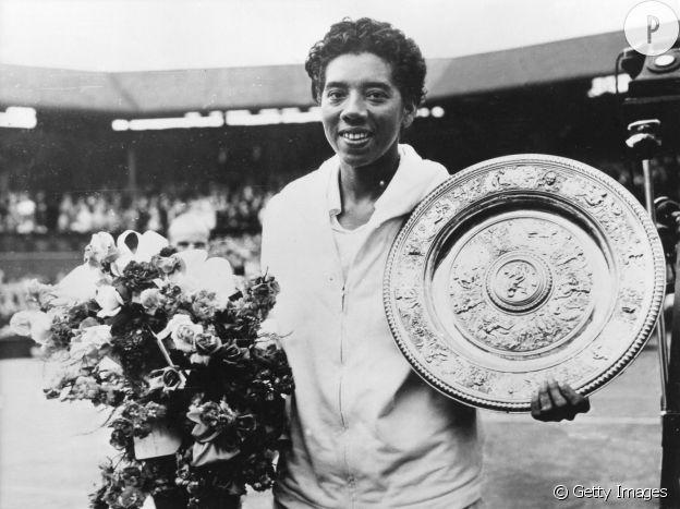 Athea Gibson à Wimbledon en 1958.