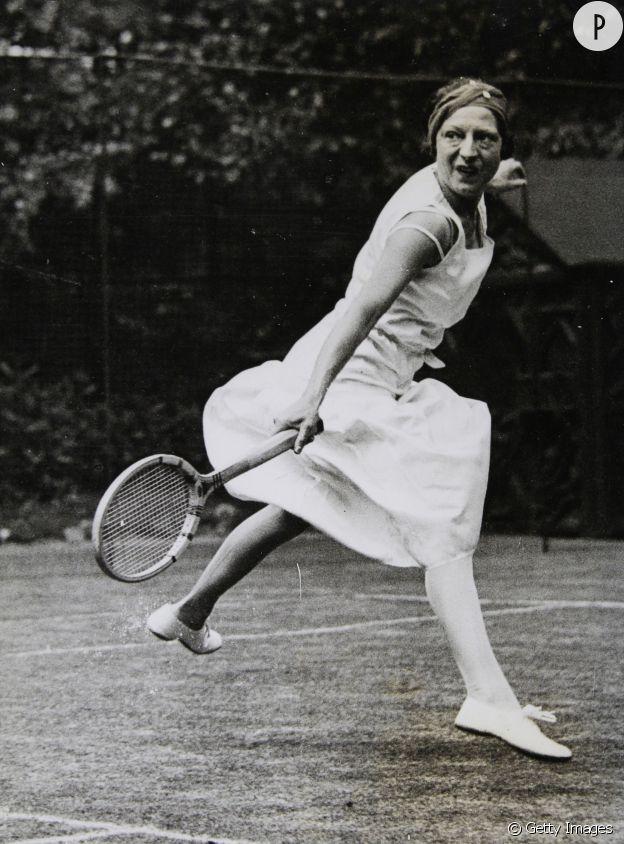 Suzanne Lenglen en entraînement en 1932.