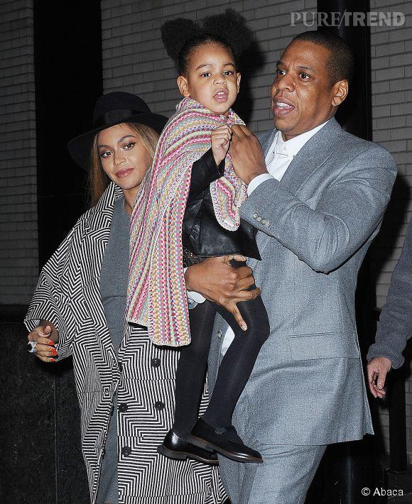 Beyoncé, Blue Ivy et Jay-Z, la famille parfaite.