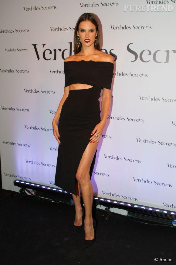 Alessandra Ambrosio était hier, jeudi 28 mai 2015, au Brésil pour à une soirée.