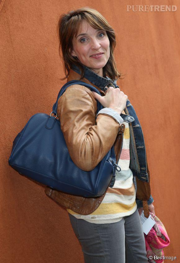 Vue à Roland Garros, la comédienne Alix Poisson est elle aussi une fan de tennis.
