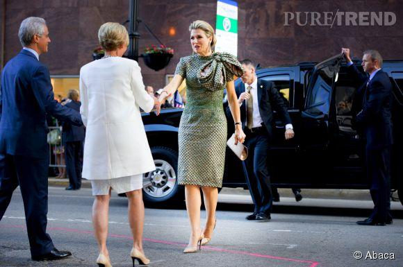 Maxima des Pays-Bas sublime dans sa robe à paillettes.