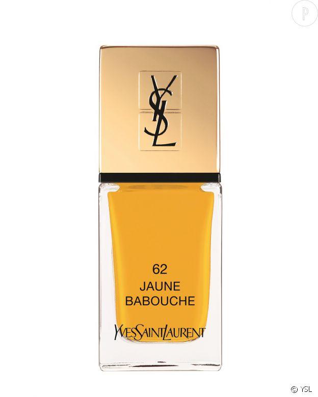 Laque Couture jaune babouche d'Yves Saint Laurent, 23,50 €.