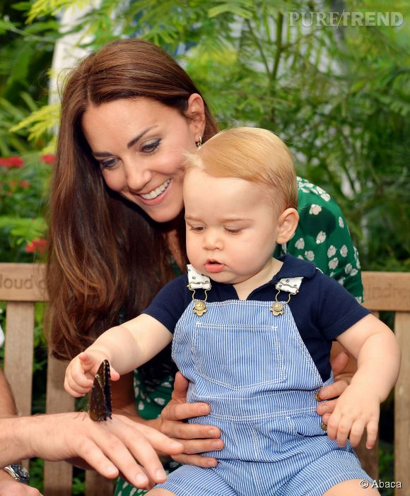Kate Middleton, très joueuse, a emmené le prince George à Holland Parc.