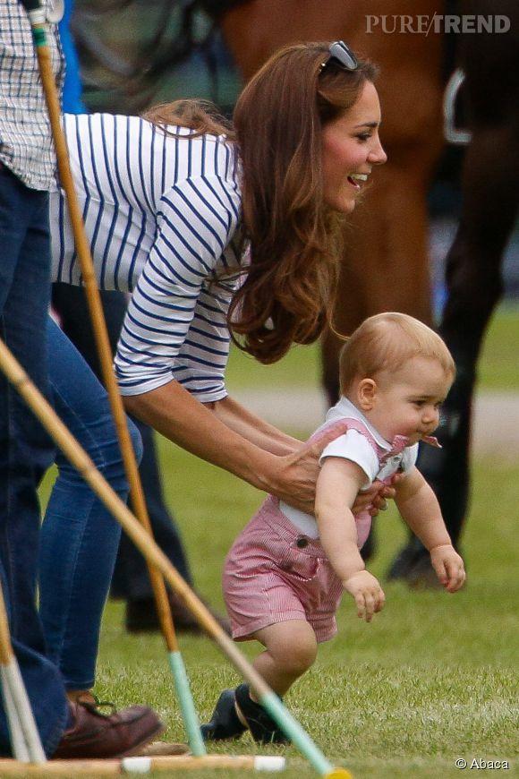 Kate Middleton et le prince George sont de retour à Kensington Palace.