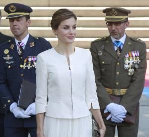 Letizia d'Espagne : Sublime reine en blanc à Madrid