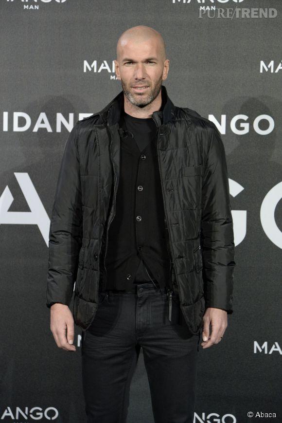 Zinédine Zidane, égérie de Mango Man.