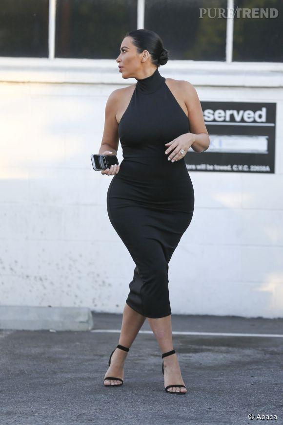 Kim Kardashian dans les rues de Los Angeles le 6 juillet 2015.