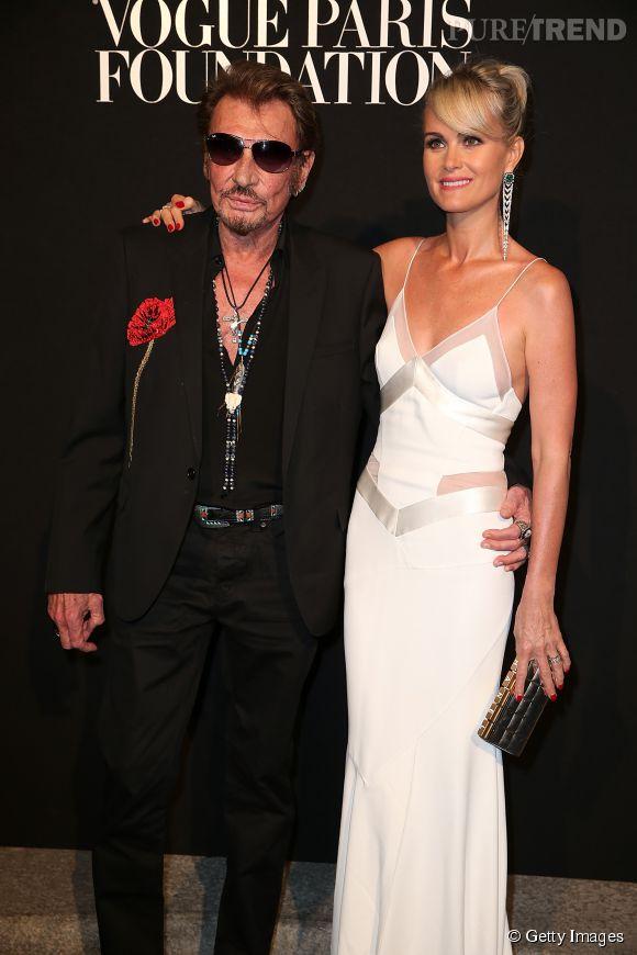 Johnny et Laeticia Hallyday au Vogue Foundation Gala le 6 juillet 2015 à Paris.