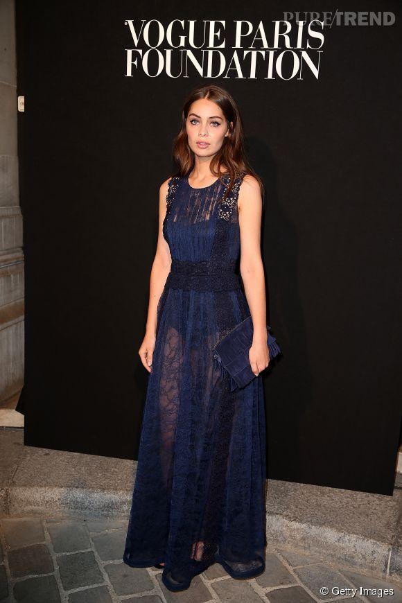 La jeune femme s'est également rendu au Vogue Foundation Gala ce soir-là.