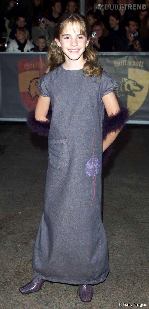 Emma Watson a onze ans et côté look c'est forcément un peu approximatif.