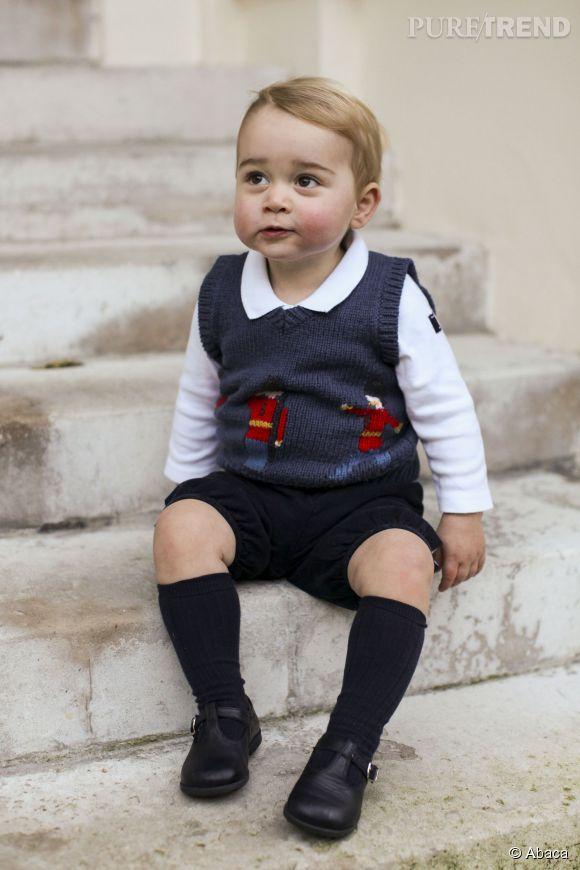 """Le prince George en mode """"premier de la classe""""."""