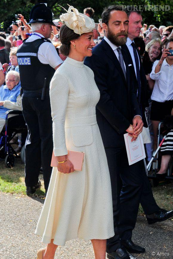 Pippa Middleton, magnifique lors du baptême de la princesse Charlotte.