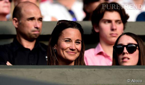 Pippa Middleton, tout sourire à Wimbledon.