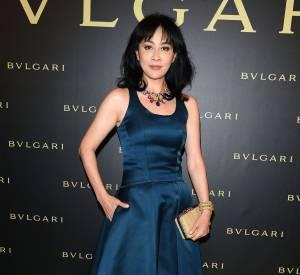 L'actrice chinoise Carina Lau à la soirée Bulgari le 7 juillet 2015 à Paris.