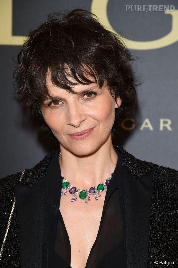 Juliette Binoche parée par Bulgari.