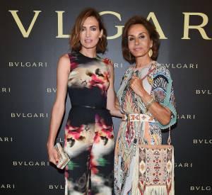Nieves Alvarez et Nati Abascal à la soirée Bulgari le 7 juillet 2015 à Paris.