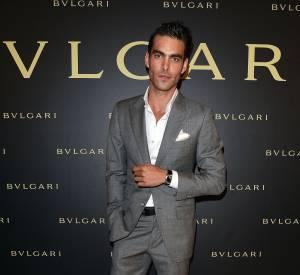 Jon Kortajarena égérie de la nouvelle fragrance Bulgari à la soirée Bulgari le 7 juillet 2015 à Paris.